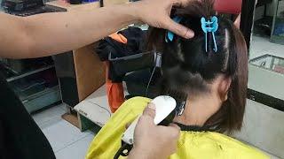 Scurity wanita potong rambut bob