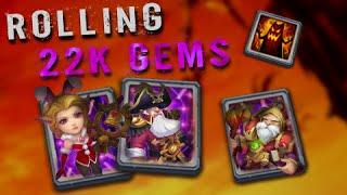 getlinkyoutube.com-Castle Clash Amazing 22k Gem Rolling
