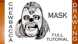 getlinkyoutube.com-How to Draw Chewbacca from Star Wars Step by Step Easy for Kids | DRAWING TUTORIAL-FULL