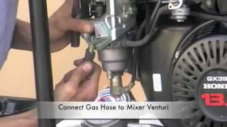 getlinkyoutube.com-Fitting Generator LPG kit-Honda390 Elemax 7600