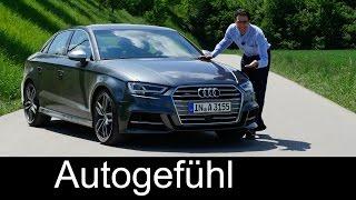 getlinkyoutube.com-New Audi S3 sedan 310 hp FULL REVIEW test driven Audi A3 family Facelift 2017/2016