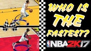 getlinkyoutube.com-NBA 2K17 Speed Test: Fastest Players In NBA 2K17