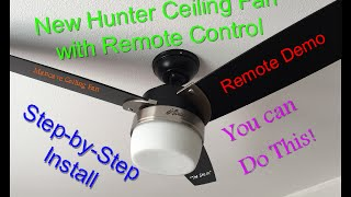getlinkyoutube.com-How to install a ceiling fan with remote control, Hunter Ceiling fan Model# 59188