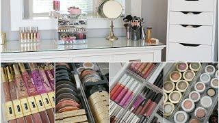 getlinkyoutube.com-Makeup Collection Storage & Organization 2015