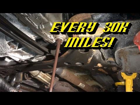 Ford CD4E 4 Speed Transmission: Fluid Change Procedure