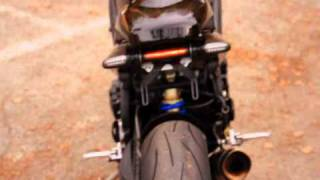 Triumph Speed Triple 1050 3 in 1 exhaust headlights on the fork
