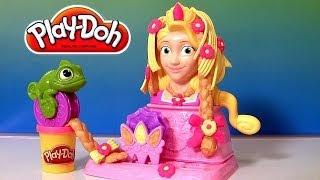 getlinkyoutube.com-Play Doh Princess Rapunzel Hair Designs Playset From Disney Tangled Fuzzy Hair Playdough