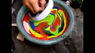getlinkyoutube.com-Cara mudah transfer cat menggunakan air - Pilox Samurai Paint