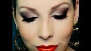 getlinkyoutube.com-Olhos Marcantes com Batom Vermelho, por Lu Ferraes