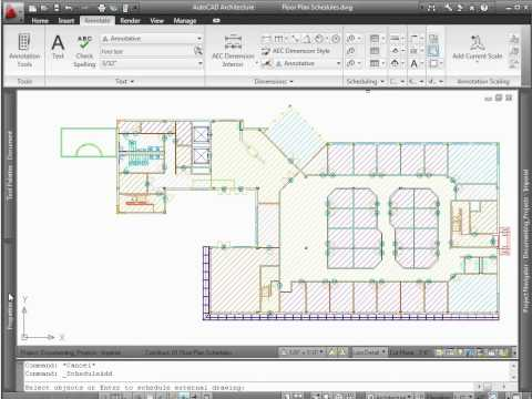 AutoCAD Architecture 2012 - Demo - Schedules