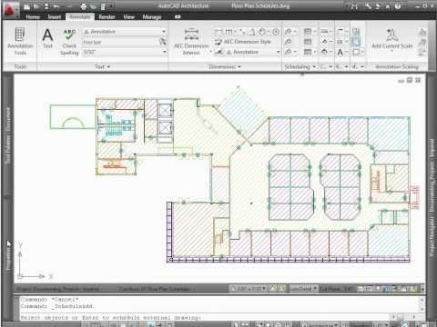 AutoCAD Architecture 2012 - Demo - Schedules