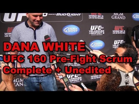 Dana White UFC 160 Pre-Fight Media Scrum: TRT, Caraway Backlash, Marijuana in MMA, Twitter policy