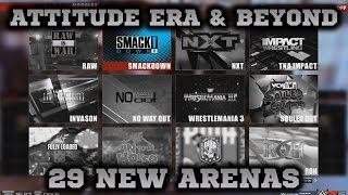 WWE 2K15 PC MOD: Attitude Era & Beyond: 29 New Arenas