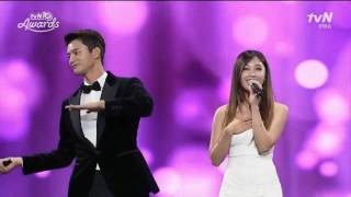 getlinkyoutube.com-REPLY 1997 BONSANG + All for you (live) - Jung Eun Ji & Seo In Guk @ tvN10 Awards 161009