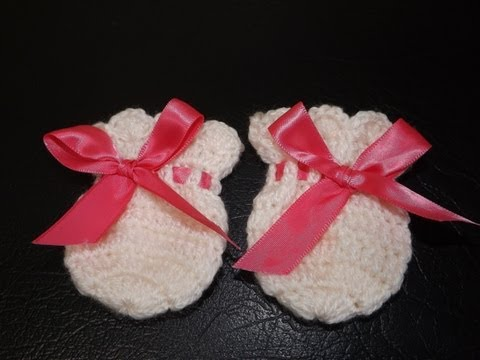 Crochet Guantesitos para Bebe'