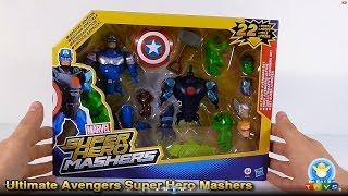 getlinkyoutube.com-Marvel Ultimate Avengers Set Super Hero Mashers Unboxing (Hasbro Special Edition)