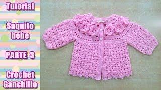getlinkyoutube.com-DIY Como tejer saquito, sueter, chaqueta, chambrita para bebe en crochet, ganchillo (3/4)