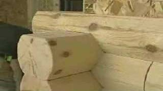 getlinkyoutube.com-How to install log siding saddle-notch corners