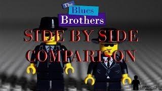 getlinkyoutube.com-LEGO Blues Brothers - Side by side comparison