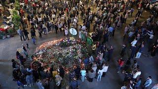 Son yolculuğuna uğurlanan Aznavour'a Erivan'da sevgi seli