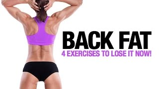 getlinkyoutube.com-How to Lose Back Fat for Women (4 BEST EXERCISES!!)