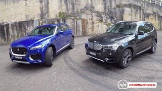 getlinkyoutube.com-Jaguar F-PACE 30d vs BMW X3 xDrive30d: SUV comparison (POV)