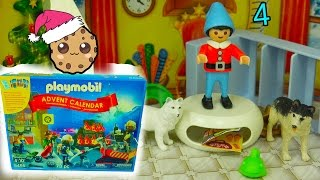 getlinkyoutube.com-Playmobil Holiday Christmas Advent Calendar - Toy Surprise Blind Bags  Day 4