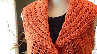 getlinkyoutube.com-Bolero Chaleco Mandarina Crochet parte 1 de 3