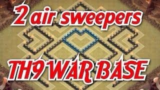 getlinkyoutube.com-Clash of clans - Town hall 9 TH9 2 Air sweeper Best war base 2015 Anti 2 stars Hog rider Lavaloon