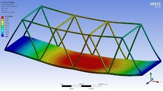 getlinkyoutube.com-ANSYS 17.0 Tutorial - 3D Bridge Truss with Surface Body Platform