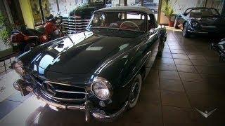 getlinkyoutube.com-1955 Mercedes 190SL | Chasing Classic Cars