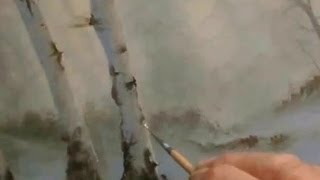 getlinkyoutube.com-HOW TO PAINT  BIRCH TREES,an Oil Painting by Alan Kingwell