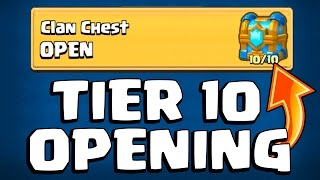 TIER 10 ''CLAN CHEST'' OPENING :: Clash Royale :: LEGENDARY 4.4 LAVA HOUND & INFERNO DRAGON DECK