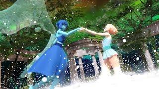 getlinkyoutube.com-[Animation] Pearl and Lapis Lazuli FUSION - Aquamarine [MMD]