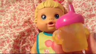 getlinkyoutube.com-Baby Alive Better Now Baby Doll Meredith Moving Day and Bottle Feeding