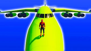 Biggest Airplane Supercars Transportation with Spiderman KIDS Nursery Rhymes Songs for Children