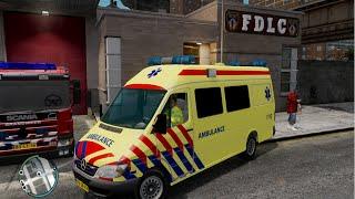 getlinkyoutube.com-GTA IV - Firefighter Mod - Dutch Ambulance Service
