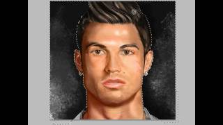 getlinkyoutube.com-Messi transform into Cristiano Ronaldo - Speed Painting by Daniel Díaz
