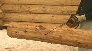 getlinkyoutube.com-How to cut notches for log cabin