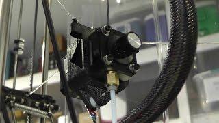 getlinkyoutube.com-Speed Testing The New Extruder Gantry Setup On My Delta Rostock 3D Printer