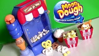 getlinkyoutube.com-Moon Dough Snack Shop Movie Theater Popcorn Machine Make Play Doh Ice Cream Sundae Pretzels
