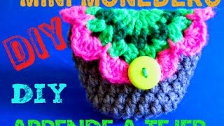 getlinkyoutube.com-Mini-Monedero - Super Facil y Bonito!!!!! a CROCHET