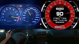 getlinkyoutube.com-Integra Type R DC2 - Acceleration analysis - Normal and Virtual Dash