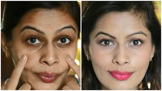 getlinkyoutube.com-Best Way to Cover Dark Circles | For Indian, Tan, Olive Skin tone | Kavya K
