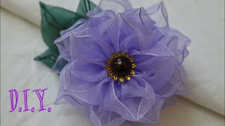 getlinkyoutube.com-❀ D.I.Y. Wired Organza Flower | MyInDulzens ❀