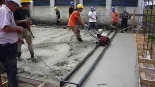 getlinkyoutube.com-Ejecución de pavimento de 15 cm de espesor de hormigón de 6.00m x 55.00 m en 12 horas de trabajo