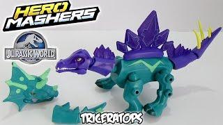 getlinkyoutube.com-Jurassic World Dinosaur TRICERATOPS Hero Mashers Hasbro Toy Review by iLoveThisToy