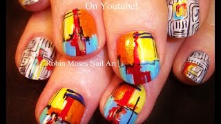 getlinkyoutube.com-DIY Rainbow Nails | Geometric Abstract Fine Art Nail Design