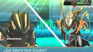 getlinkyoutube.com-Shiny Mega Rayquaza vs Shiny Primal Groudon and Kyogre