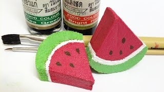 สอนทำซอสราดสกุชชี่สูตรสีผสมอาหาร สูตรประหยัดแต่เป๊ะเฟร่อร์ | How to make squishy puffy paint